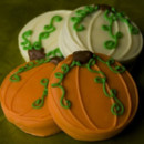 Pumpkin Patch Chocolate Dipped Oreos Wedding Favors (Set of 2)