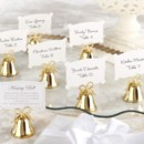 Gold Wedding Bells, Place Card Holders