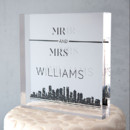 130x130 sq 1453495412913 city style personalized acrylic wedding cake toppe