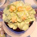 130x130 sq 1384650864825 green floral cupcak