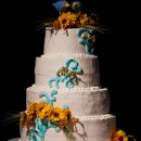 130x130 sq 1344919988030 weddingcakesunflowers
