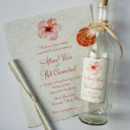 130x130 sq 1393008999679 coral hibiscus beach bottle invitation