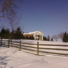 220x220 sq 1478708975356 front with fence wide shot with snow