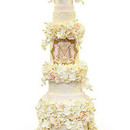 130x130 sq 1452975788 8a50458d2ed6f9ce towering floral wedding morgan cake2848