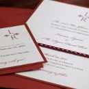 Tying the knot on Valentine's Day or Christmas? This beautiful red invitation compliments the color palette for each event. Matching reception items available.