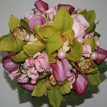 220x220 sq 1309948730766 greencymbidiumpinkrosecallaflower