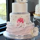 130x130 sq 1445556110320 pink flower ruffle cake