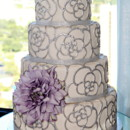 130x130 sq 1445556315009 silver flower cake