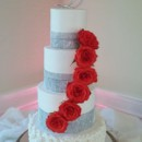 130x130 sq 1445558233997 tall rose cake