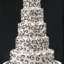 130x130 sq 1393209771476 5 tier white with black swirl