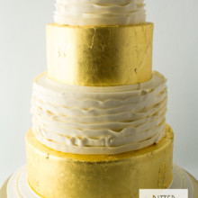 220x220 sq 1493825424872 buttercream ruffles and gold leaf