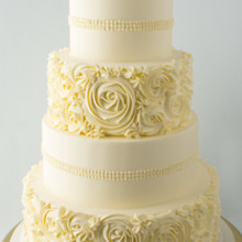 220x220 sq 1493825490174 weddingbuttercream rosettes