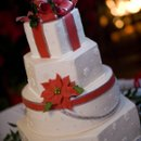 Sugar packages and hatbox, adorned with hand-made sugar poinsettias and holly.....