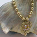 130x130 sq 1415123800792 golden crystal and pearl necklace3