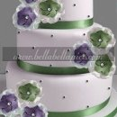 130x130 sq 1295534040160 weddingcakepurplegreen