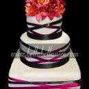 130x130 sq 1295534046160 blackredribbonweddingcake22logocopy