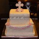 130x130 sq 1320785128675 baptismwhitepinkcake1