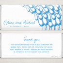 Peacock Blue - Fresh, modern style meets a popular theme on this delicate and elegant personalized Hershey chocolate bar favor.