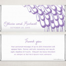 Peacock Amethyst - Fresh, modern style meets a popular theme on this delicate and elegant personalized Hershey chocolate bar favor.