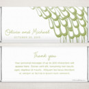 Peacock Sage - Fresh, modern style meets a popular theme on this delicate and elegant personalized Hershey chocolate bar favor.