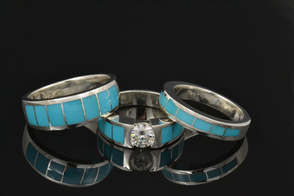 1383063639116 Cs030 W134 M206 Moissanite And Turquoise  Anthem wedding jewelry