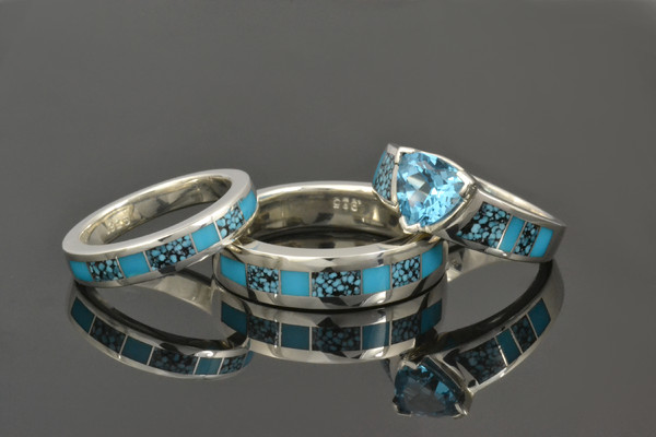 1433868019704 Cs023 W134 M200 Kingman Spiderweb Turquoise And Tu Anthem wedding jewelry