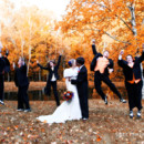 Bride and Groom with some fun Groomsmen