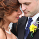 Bride and Groom Close Up Portrait