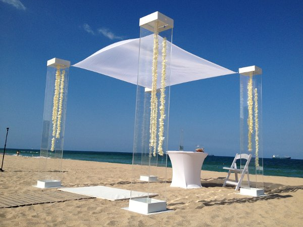 Arcdivine Com Miami Acrylic Chuppah Wedding Canopy Arch