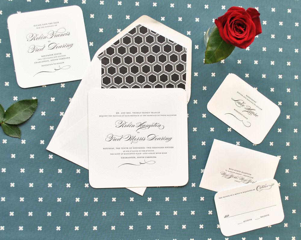 page stationery invitations richmond va weddingwire