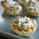 130x130 sq 1461697597919 apple and gorgonzola filled philo cups