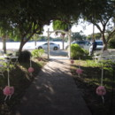 130x130 sq 1402442479508 pink kissing balls on shepherd hooks