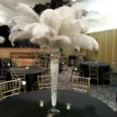 130x130 sq 1413659438947 white  black feather centerpiece mease manner