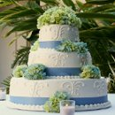 130x130_sq_1326143842293-weddingcakeblueribbonwhitegreenflowers