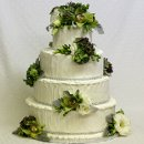 130x130_sq_1326143850057-weddingcakemoderndesigngreenflowersbling