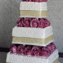 130x130_sq_1326143887231-weddingcakewhitesquaregoldribbonpinkflowers
