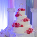 130x130 sq 1415301575176 pink red flowers wedding cake