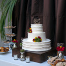130x130 sq 1415301597720 white outdoor wedding cake