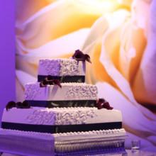 220x220 sq 1407446496111 wedding cake 3 tier 7 degrees blue orange square b