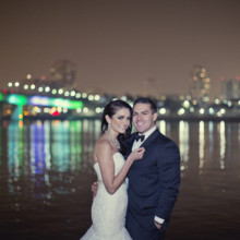 220x220 sq 1365890988971 bride and groom at bridge 2