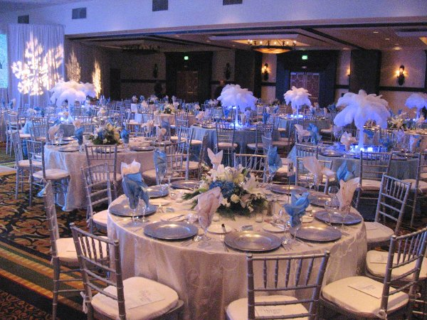 Baby Blue And Silver Wedding Centerpieces: Baby blue and silver ...