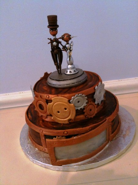 1358808518228 SteampunkO Danvers wedding cake