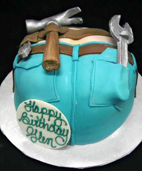 1358808833449 PlumbersCrackCakeK Danvers wedding cake