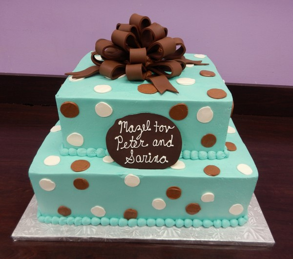1372077864657 Teal And Brown Bar Mitzvah F Danvers wedding cake