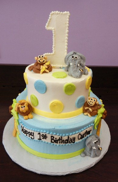 1372078414932 1st Birthday Baby Jungle I Danvers wedding cake