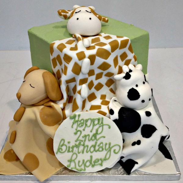 1372078423514 Animal Baby Blankets 2 Tier L Danvers wedding cake