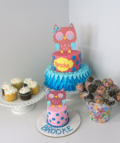 1372078453709 Owl Set  O  Smash Cupcake Pops Danvers wedding cake