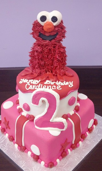 1372078584874 Pink And Red Elmo G Danvers wedding cake