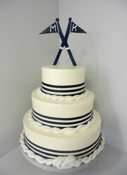 1381855305883 Nautical With Rope And Flag Danvers wedding cake