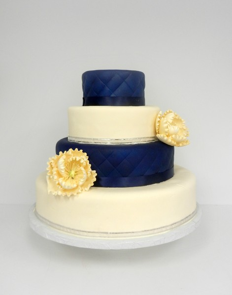 1381855319189 Navy And Ivory With Peony Danvers wedding cake